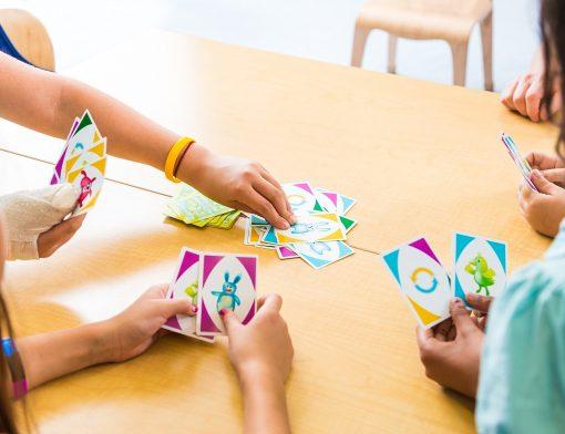 Jogo de cartas para crianças